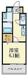 福岡市地下鉄空港線 大濠公園駅 徒歩9分の賃貸マンション 9階1Kの間取り