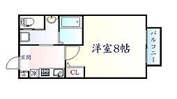 JR東北本線 南仙台駅 徒歩9分の賃貸アパート 1階1Kの間取り