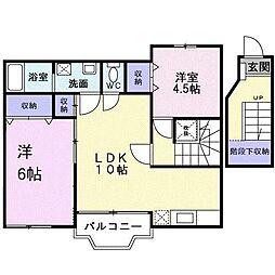 大阪府堺市西区菱木4丁の賃貸アパートの間取り
