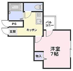 シーサイドマンション[3階]の間取り