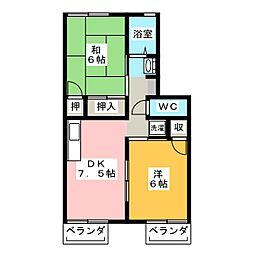 メルベーユ野崎[2階]の間取り