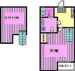 AXIS浦和美園[1階]の間取り