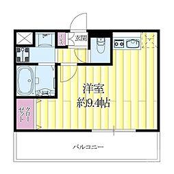 JR東海道・山陽本線 吹田駅 徒歩4分の賃貸マンション 9階ワンルームの間取り