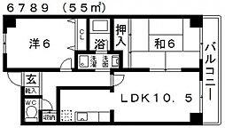 マンションリベラル[406号室号室]の間取り