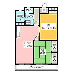 安戸ビル[5階]の間取り