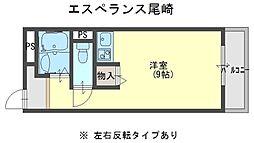 エスぺランス尾崎[4階]の間取り