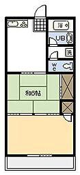 川崎ビル[401号室]の間取り