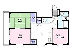 サンライフマンション早津[2階]の間取り