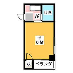 コーポ岡部花塚[1階]の間取り