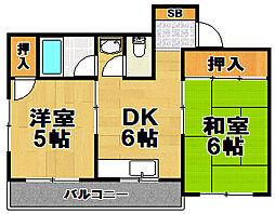第5向和マンション[4階]の間取り