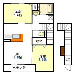 STELLA B[2階]の間取り
