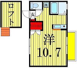 メゾン ドゥ シャルマン[2階]の間取り