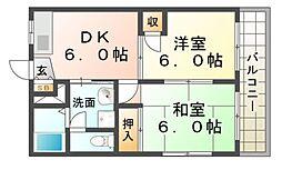 近松サンハイツ[2階]の間取り