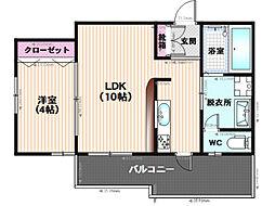 エンクレスト平尾II[701号室]の間取り