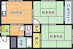 シャトレ熊西[5階]の間取り