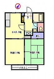 嵐山ハイツII[1階]の間取り