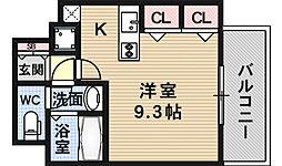 I Cube 恵美須[8階]の間取り