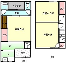 [一戸建] 大阪府堺市堺区香ヶ丘町4丁 の賃貸【/】の間取り
