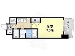 Luxe神戸WEST 4階1Kの間取り
