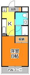 コンアモーレ清瀬[3階]の間取り