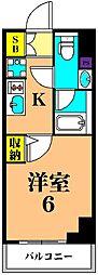 京急本線 新馬場駅 徒歩2分の賃貸マンション 12階1Kの間取り