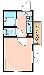 東京都荒川区西尾久5丁目の賃貸アパートの間取り
