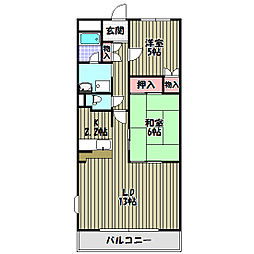 シンフォニーレジデンス藤沢台[3階]の間取り