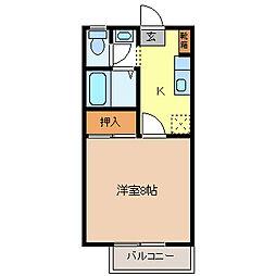 エレガントタウン上松A棟[2階]の間取り