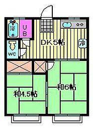 埼玉県さいたま市南区南本町2丁目の賃貸アパートの間取り