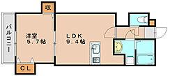 リテラ博多2[3階]の間取り