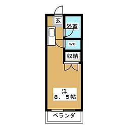アルファ[3階]の間取り