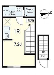 ディアコート神楽坂[2階]の間取り
