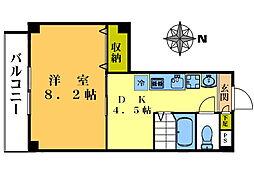 オアシスコート・M[203号室]の間取り