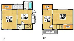 [一戸建] 埼玉県越谷市大字袋山 の賃貸【/】の間取り