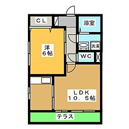 モナリエ那加 B[1階]の間取り