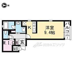 THE GARNET SUITE RESIDENCE龍谷大前 5階1Kの間取り