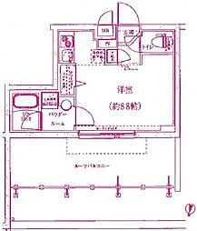 クラリッサ川崎梶ヶ谷[4階]の間取り