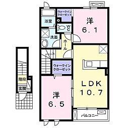 サニーグレイス[2階]の間取り