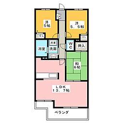 ナイスアーバン入野弐番館[4階]の間取り