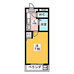 グラナイト尼ヶ崎[2階]の間取り