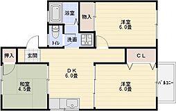 ハイツトシ[2階]の間取り