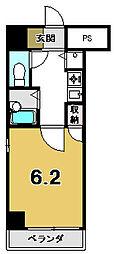 リーガル京都御所西[504号室]の間取り