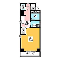 NICE・ONE新町[1階]の間取り