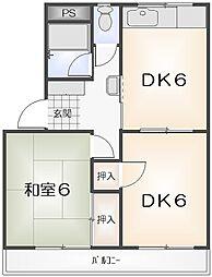 リバーサイド福井[307号室]の間取り