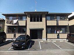 広島県福山市日吉台2丁目の賃貸アパートの外観