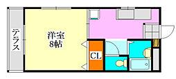 コーポ川島第六[2階]の間取り