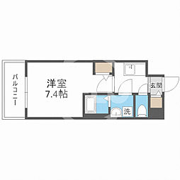 サムティ福島Rufle(ルフレ) 4階1Kの間取り