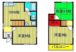 [一戸建] 千葉県柏市根戸 の賃貸【/】の間取り