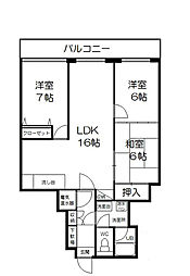 百道シーサイドオークマンション[2階]の間取り