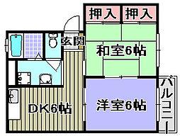 ソファレ条東[202号室]の間取り
